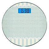 Escala digital de peso corporal de precisión Ronda Decoración Shabby Chic...