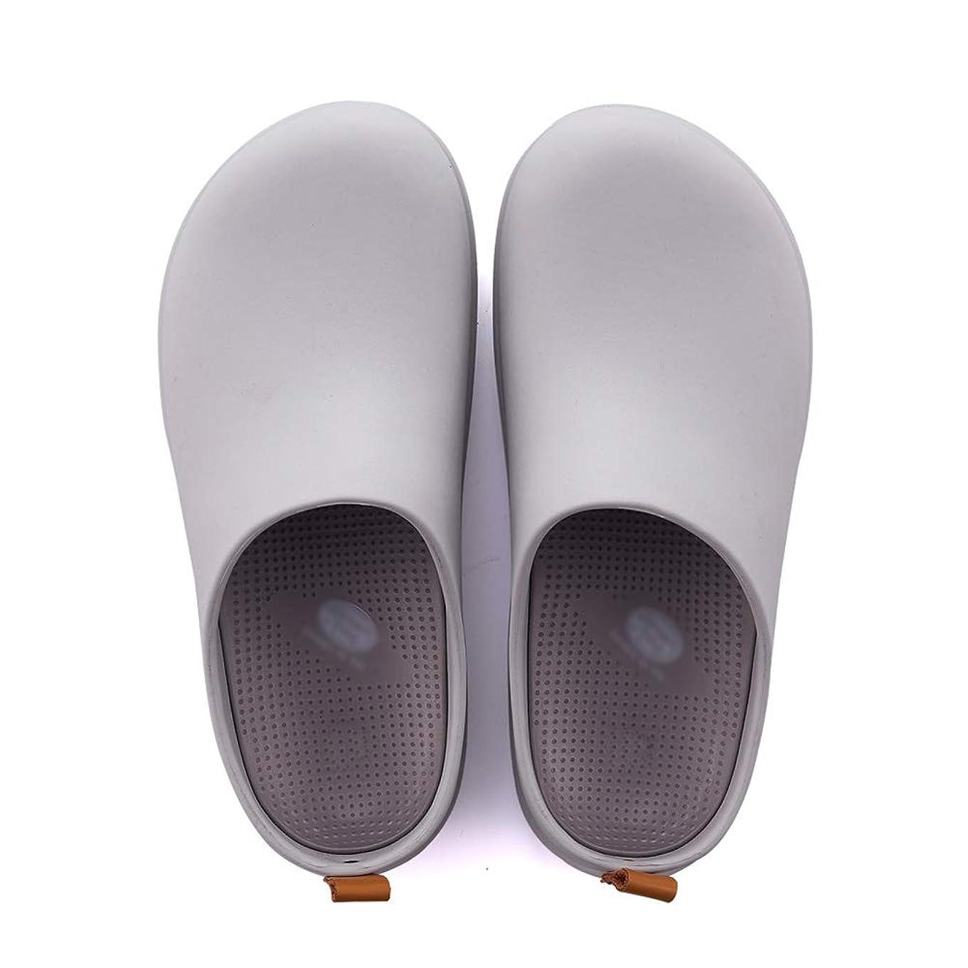 触手何でもワットコットンスリッパ ルームシュー 綿スリッパ 室内スリッパ Baotouサンダル医療看護婦女性の夏新しい庭の穴の靴EVA TINGTING (色 : Gray, サイズ さいず : 39-40)