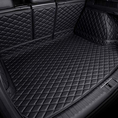FVCDWSA Kofferraumwanne Laderaumwanne Lederschutzunterlage für KIA Sorento 5Seats 2013 2014, Kofferraummatten Laderaumschale Schutzmatte Auto Kofferraumschutz Matte Zubehör(Allblack)