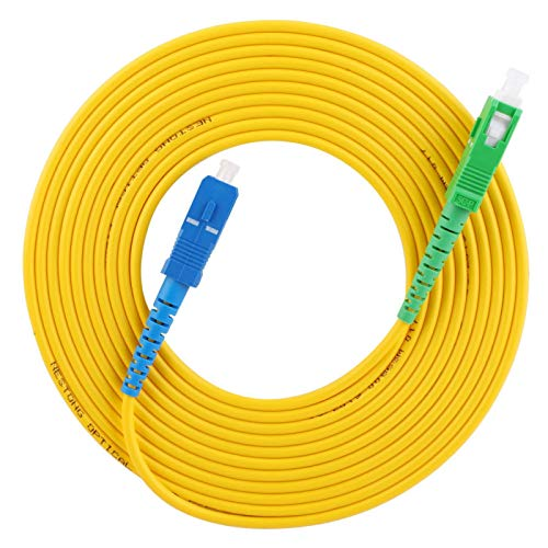 Puente de fibra Cable de conexión de fibra óptica de 20 m Cable monomodo SC/APC-SC/UPC Rendimiento estable para tipos de sistemas de comunicación de fibra óptica