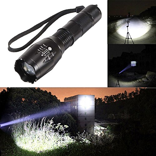 Santa Superstore 10,000 Lumens XM-L T6 Zoomable Tactical Military LED 18650 Flashlight Torch Lamp