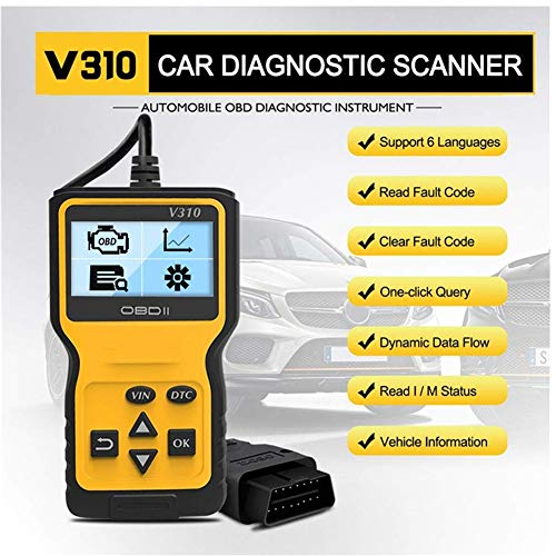 OBD2 Scanner Auto, Valise Diagnostic Multimarque, Diagnostic Auto Supprimer Le Pilote de Code D'erreur Diagnostic Scanner pour Les Véhicules pour Les Systèmes de Moteur Automobile OBDII