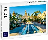 Lais Puzzle Vista de una Fuente en la Plaza de San Juan de Dios en Cádiz con el Ayuntamiento al Fondo 1000 Piezas