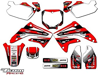 Flames Red Wholesale Decals MX Dirt Bike Graphic Kit Sticker Decals Compatible with Honda CR85 2003-2007