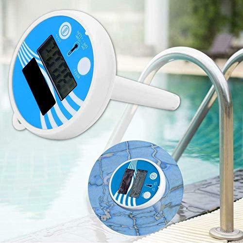 TAST Solar-Schwimmbad-Thermometer, Schwimmbad-Thermometer, schwimmendes Schwimmbad-Thermometer, mit einem Seil, stoßfest für alle & Pools, Spas, Whirlpools, Aquarien & Teiche