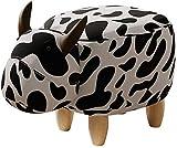Taburete de Bar Reposapies Salon Heces Hippo Usar Zapatos Zapatos Animal Banco Banco Taburete Creativo Inicio Sofá Banco Mascotas Stool Taburete de los niños Lindos QAF1014 (Color : Cow)
