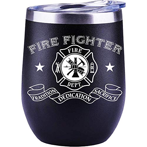Firefighter Gifts For Men | From Wife | Girlfriend | DAD | Mug | Funny | Fire Fighter | Christmas | Wine Glass | Cup