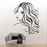 wopiaol Autocollant Moderne Mode beauté Femme VinylArt Restaurant Pub décor Mural Mural Tatoo décoration Amour par Mur