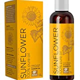 100% Pure Sunflower Seed Oil Anti-Aging Natural Skin Care and Hair Conditioner Health Beauty Carrier...