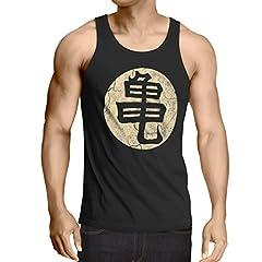 style3 Goku Roshis Turtle School Camiseta de Tirantes para Hombre Tank Top