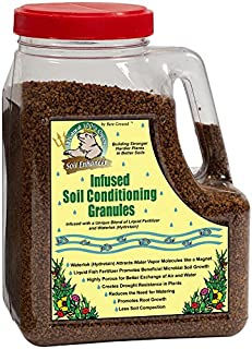 Just Scentsational TP-5C Trident's Pride Organic Liquid Fish Infused Hydroponic Soil Conditioning Granules in Shaker Jug, 5 lbs