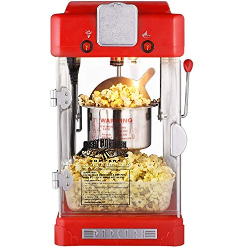 Lowest Price! CHENMAO Great Northern Popcorn Machine Retro Style Popcorn Popper, Perfect for Birthda...