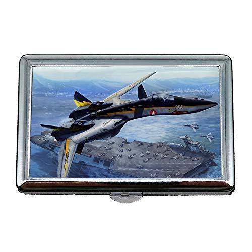 Tapete Jet Fighter, Zigarettenetui Box, Kampfausrüstung, Visitenkartenetui Visitenkartenetui Edelstahl