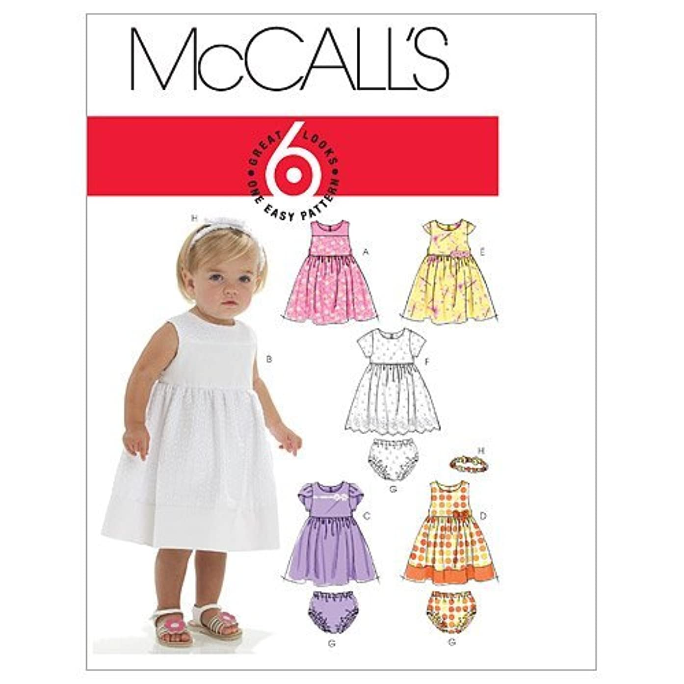 McCall's Patterns M6015 Infants' Lined Dresses, Panties and Headband
