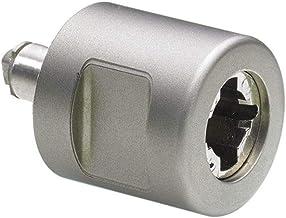 Hettich 9206831 Prestige 2000 cilinderdraaigreep, type 42.2, links, ø30, vernikkeld mat, zilver