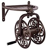 Liberty Garden Products 710 Navigator Rotating Garden Hose Reel, Holds 125-Feet of 5/8-Inch Hose - Bronze (Pack of 3)