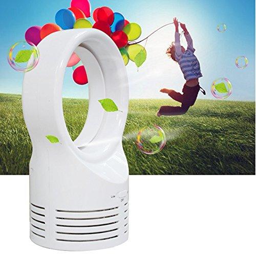 Alftek Mini Bladeless Ventilator Schlafen Elektrische Kühlung Super Leise Zwei Geschwindigkeit Air Fans für Home Studenten