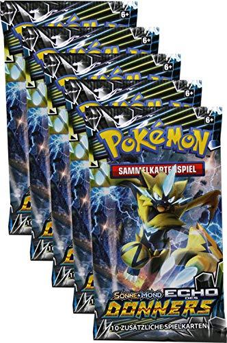 Pokémon Sonne & Mond Serie 8 - Echo des Donners - 5 Booster - Deutsch