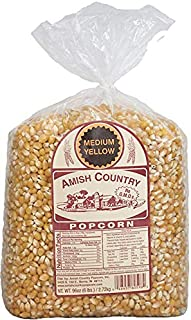 Amish Country Popcorn | 6 lb Bag | Medium Yellow Popcorn Kernels | Old Fashioned with Recipe Guide (Medium Yellow - 6 lb Bag)