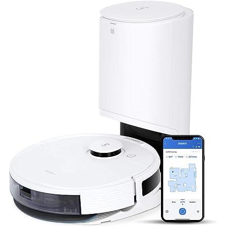【自動ゴミ収集】ECOVACS(エコバックス)DEEBOT N8+ ロボット掃除機 マッピング 水拭き対応 強力吸引 お掃除ロボット 薄型&静音設計 自動充電 落下防止 Wi-Fi接続 Alexa対応 フローリング/畳/カーペット掃除 Amazon.co.jp限定 1年メーカー保証
