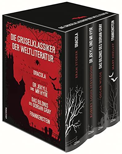 Die Gruselklassiker der Weltliteratur - Dracula - Dr. Jekyll und Mr. Hyde - Das Bildnis des Dorian Gray - Frankenstein (4 Bände im Schuber): (Vier Bände in Kassette)