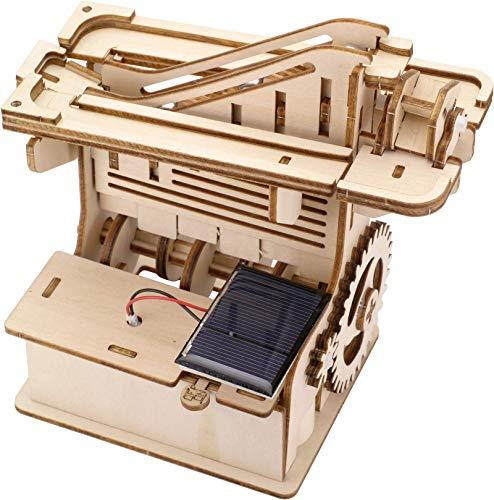 組立動画あり 組み立て式ウッド3D電動パズル マーブルマシン かいだん 立体パズル 木製