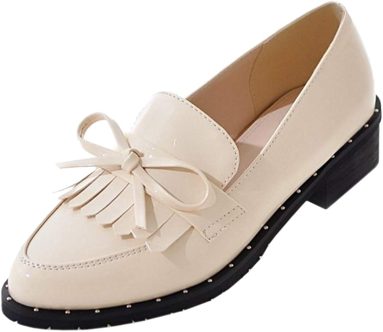 ELEEMEE Women Fashion Pointed Toe Loafers