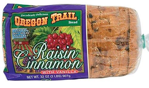 Oregon Trail Raisin Cinnamon with Vanilla Bread - 2-32 oz. Loaves