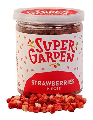 Supergarden Gefriergetrocknete Beeren und Früchte (Stücke und Scheiben) (Erdbeerstücke)