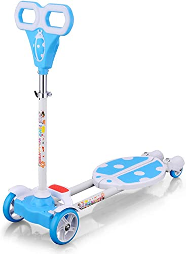 entrega rápida WYFDM Niños 3 Ruedas Speeder Plegable Plegable Plegable Scooter Tri Slider con Alas Push Motion, Diseño Plegable Manija Ajustable,azul  están haciendo actividades de descuento