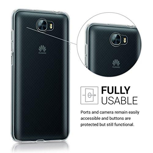 kwmobile Huawei Y6 II Compact (2016) Hülle - Handyhülle für Huawei Y6 II Compact (2016) - Handy Case in Transparent - 4