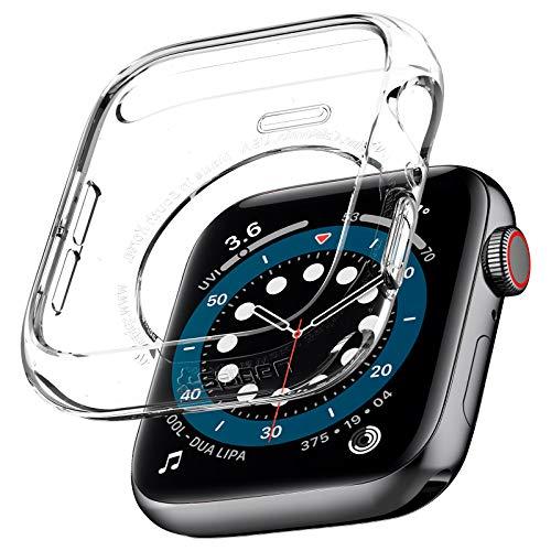 Spigen Liquid Crystal Kompatibel mit Apple Watch Hülle for 44mm Serie 6/SE/5/4 - Kristallklar