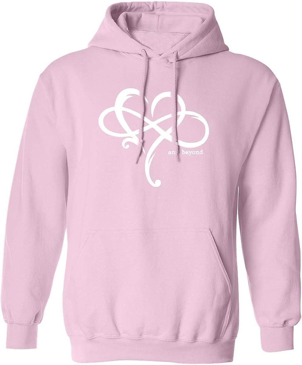 Heart Infinity and Beyond Adult Hooded Sweatshirt