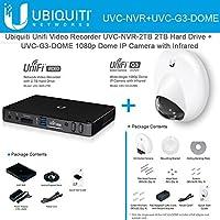 Ubiquiti Unifi ネットワークビデオレコーダー UVC-NVR-2TB 2TB ハードドライブ + IPカメラ UVC-G3-DOME 広角