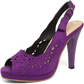 BalaMasa Womens ASL06517 Pu Platform Heels