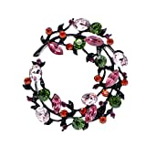 YJRIC Broche Broches de Flores de Diamantes de imitación para Mujer, diseño de Primavera, Broche para Abrigo, Broche para Boda, Nuevo 2020, Rosa