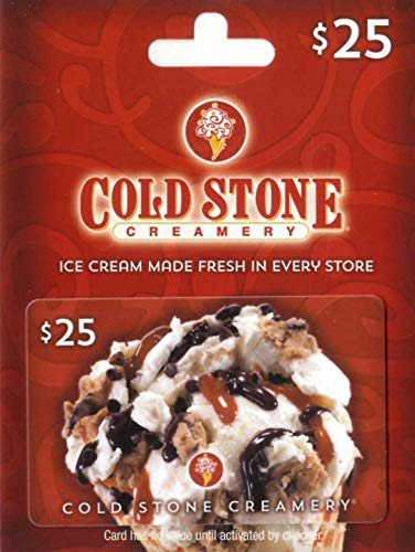 Cold Stone Creamery Gift Card $25
