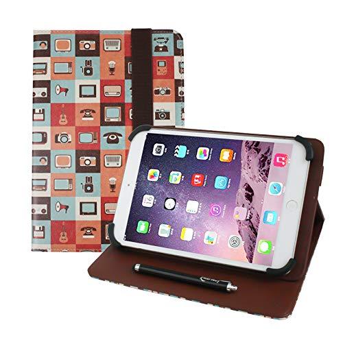 Emartbuy Universal Serie 7-8 Pulgadas Gadgets Multiángulo Folio Folio Funda Carcasa Wallet con Ranuras para Tarjeta de Crédito y Lápiz Óptico Adecuado para Los Siguientes Dispositivos