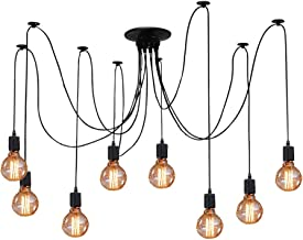 ZHMA Ceiling Spider Lamp Light Pendant Lighting, Antique Classic Adjustable DIY Lighting Chandelier Modern Chic Industrial Dining 8 Arms(Each with 1.7m Wire)