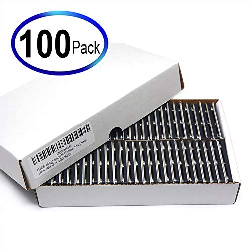 CMS Magnetics Name Badge Magnets - 100 Sets of Magnetic Name Tag Attachments for Badge Makers or Magnetic Name Tag DIY Projects - Made of Strong Neodymium Magnets BM-3MAG
