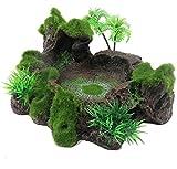 Zunbo Decoración para acuario, acuario, cueva de resina para acuario, adorno para reptiles, lagarto, rana y tortuga
