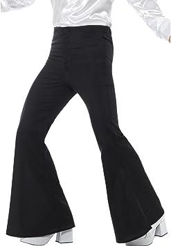 Net Toys Pantalones De Pata De Elefante Hombres M Es 48 50 Pantalones Acampanados Negros Pantalones De Campana Anos 70 Saturday Night Fever Amazon Es Juguetes Y Juegos