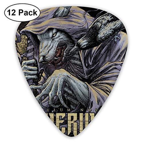 Plektrum Powerwolf Metallum Nostrum Guitar Picks 12er-Pack für E-Gitarre, Akustikgitarre, Mandoline und Gitarrenbass