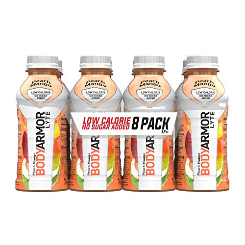 BODYARMOR LYTE Sports Drink Low-Calorie Sports Beverage, Peach Mango, Natural Flavors With Vitamins, Potassium-Packed Electrolytes, No Preservatives, Perfect For Athletes, 12 Fl Oz (Pack of 24)