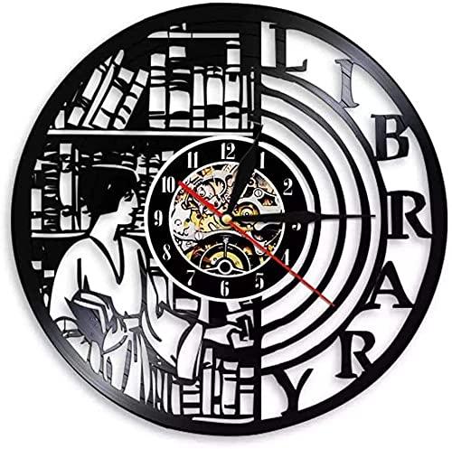 hhhjjj Biblioteca Moderna led Disco de Vinilo Reloj de Pared Estilo Retro Reloj Mudo decoración del hogar Obra de Arte única decoración del hogar Personalidad Creativa Regalo