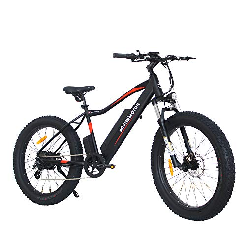 AOSTIRMOTOR Fat Tire Ebike,Electric Bicycle with 48V 10.4AH Removable Lithium Battery and 750W Motor, 26' 4.0 inch Electric Mountain Bike Electric Bicycle for Adults (Black)