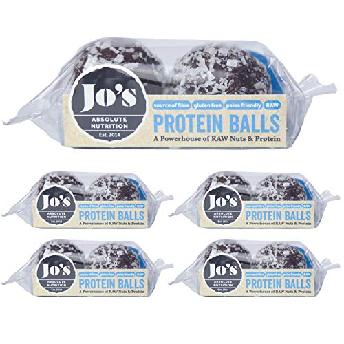 Chocolate Protein Balls - Gluten Free Healthy Snacks with Coconut, Almond, Cocoa & Whey Protein - A Powerhouse of Raw Nuts & Protein for an Energy Boost - 10 x 25g Balls by Jo's Absolute Nutrition