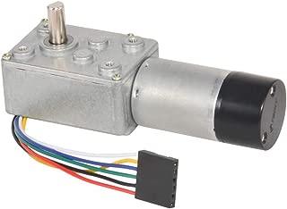 DC Worm Geared Motor 12V Low Speed 3RPM with Hall Encoder for Robotics,RC Car Model,Custom Servo,Arduino