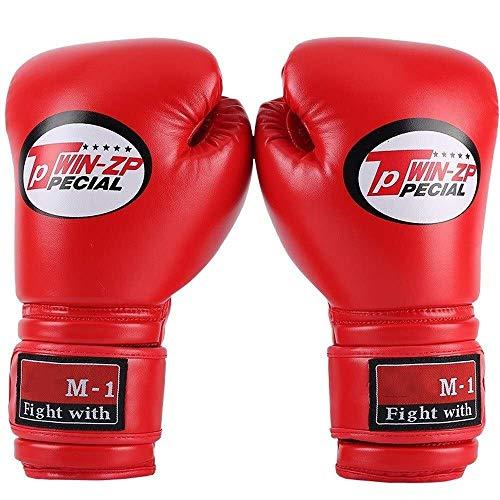 JF-XUAN. 10z Erwachsene Boxhandschuhe Professionelle Handschuhe Tragen Training Boxhandschuhe Muay Thai Kämpfe Boxen Atmungsaktiv Bequeme Tragen Handschuhe