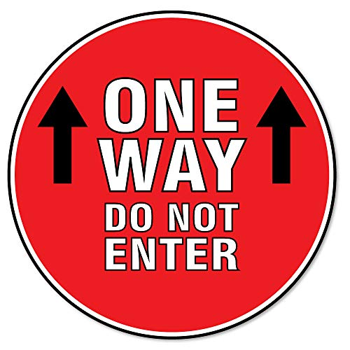 SIgnMission Coronavirus One Way Do Not Enter Non-Slip Floor Graphic 6 Pack of 11' Vinyl Decal Protect Your Business, Work Place & Customers Made in The USA, Model Number: FD-C-11-6PK-99978